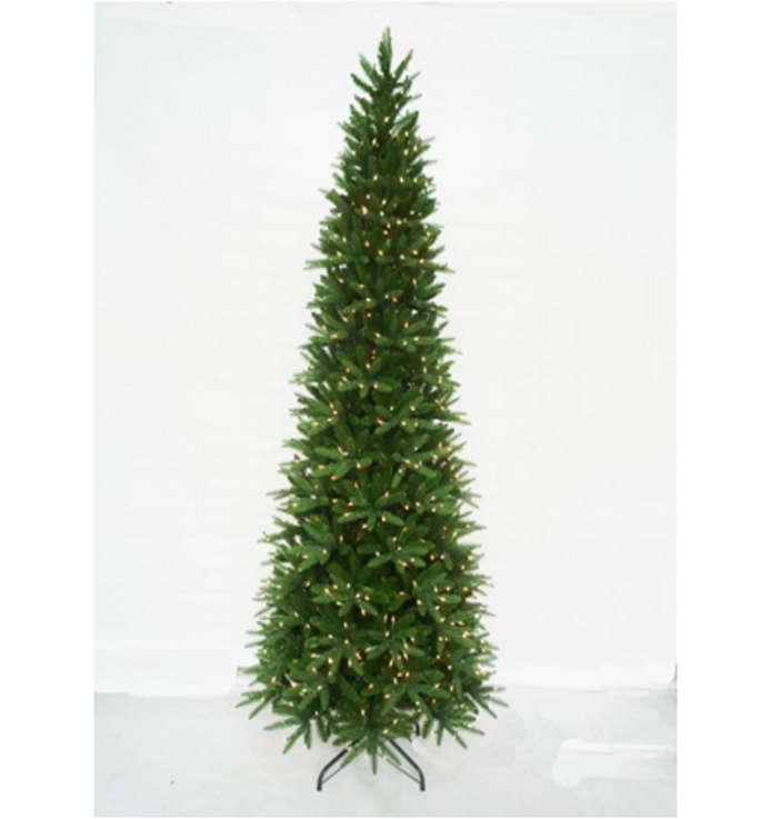 Pe Christmas Trees Uk: 300cm Pre-Lit Aspen Slim Pine PE Hinged Tree W/1000 WW
