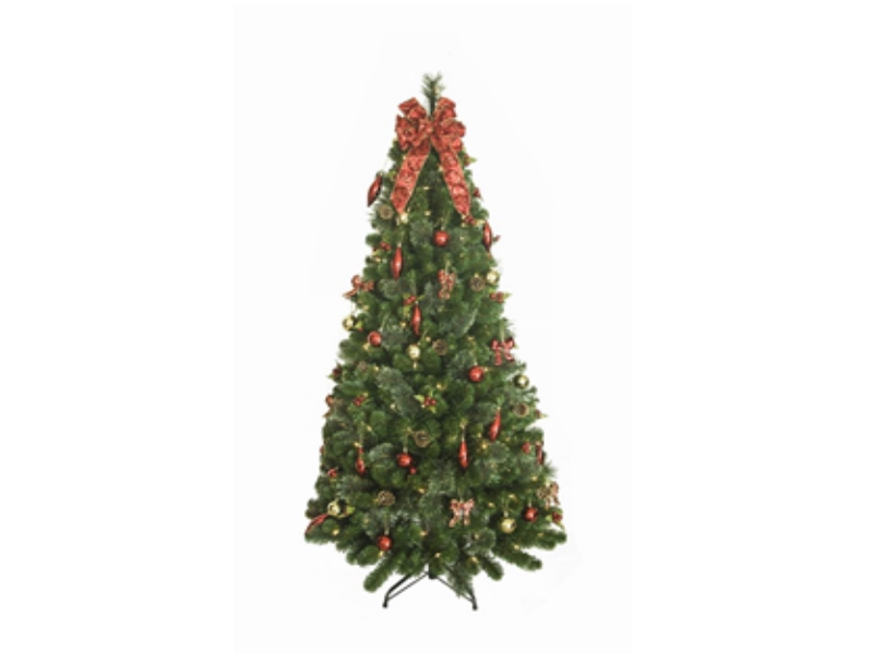150cm Pre-Lit Decorated Pop-Up Tree W/150 WW LEDS