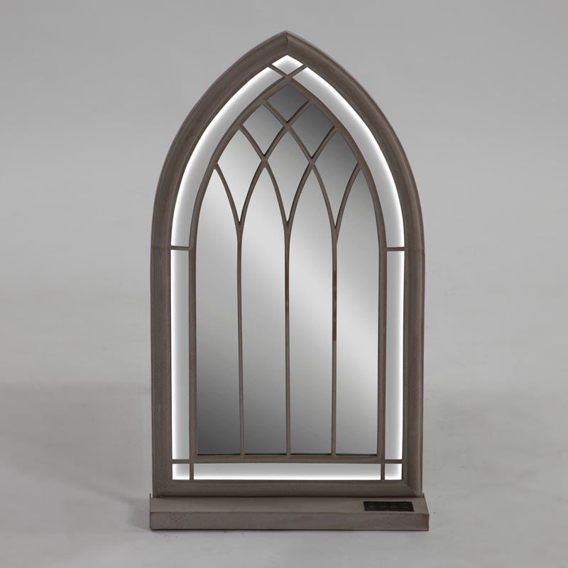 Led church style mirror 86cm w warm white leds trans for Church style mirrors