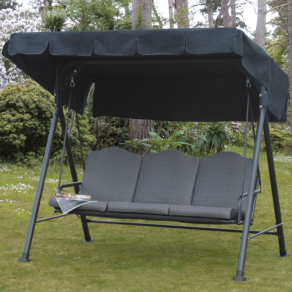 Rhodes Cushioned 3 Seat Steel Swing Trans Continental Group Ltd