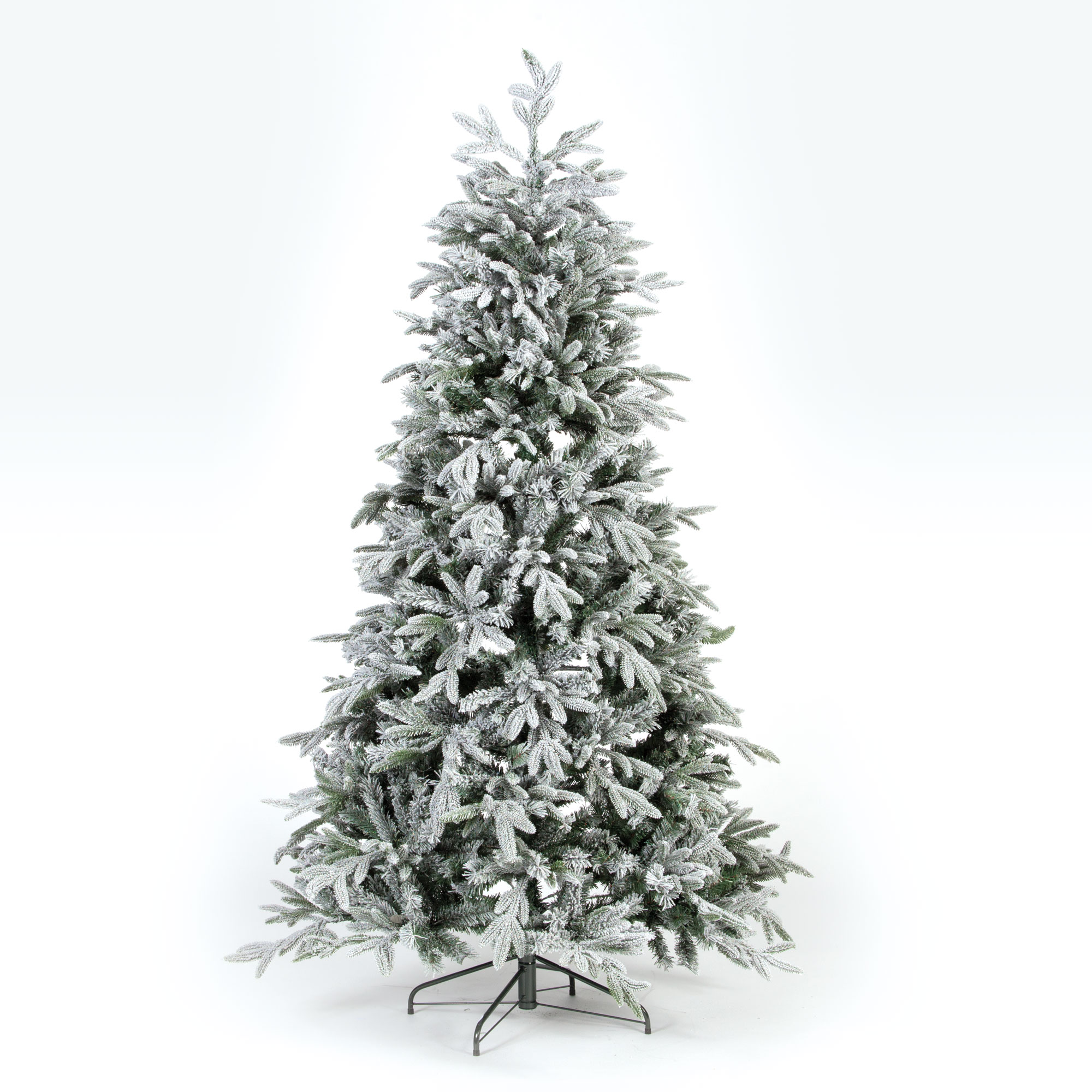 Pe Christmas Trees Uk: 210cm Lake Forest Fir PE Snow Tree W/922 Tips